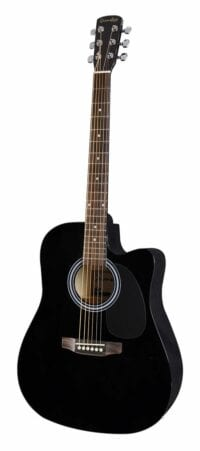 Grimshaw - GSD-60-CEBK - Dreadnougt gitaar met preamp en cutaway